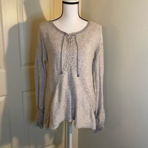Knox Rose, grey long sleeve sweater, medium